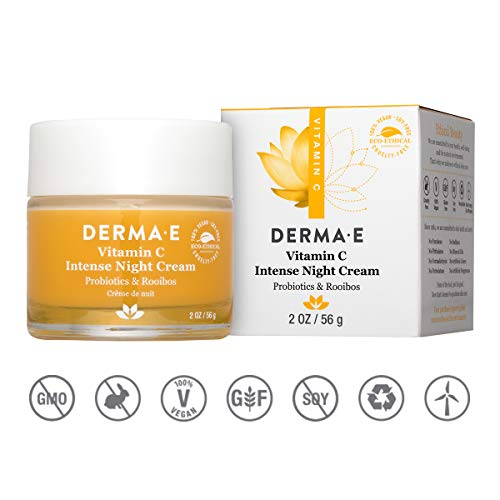 DERMA E Vitamin C Intense Night Cream, 2 oz, Cream White