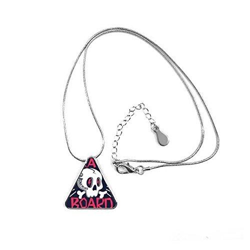 Doe-het-zelf halsketting met Indianen skelet menselijke vlammen Sacerdote Sacrificio Totem Tattoos patroon van illustratie driehoek