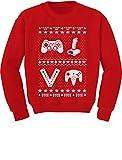 Gamer Retro Ugly Christmas Sweater Xmas Party Youth Kids Sweatshirt Medium Red