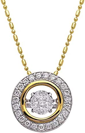Olivia Paris Dancing Diamond Necklace Set in 14k Two Tone Gold 3 4 Carats ctw H I SI2 I1 18 product image