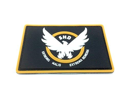 The Division SHD Extremis Malis Extrema Remedia PVC Airsoft Paintball Klettverschluss-Flecken Kader Patch