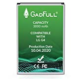GadFull Batterie Compatible avec LG G4 | 2020 Date de Production | Correspond à d'origine BL-51YF | Li-ION Batterie Compatible avec LG G4 Dual Sim | G4 Stylus | H815 | H818P | H635