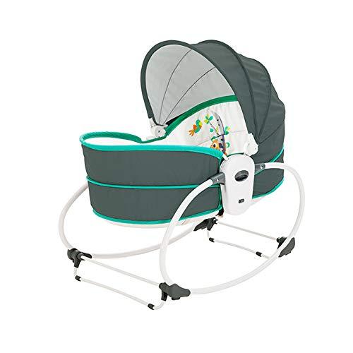 Baby GOUO Bouncers Électrique Balance Shaker Vibration Rocking Chair Smart Bed Lounge Chair Chaise Confort Automatique Chaise Music Basket Cradle pour 0-36 Mois
