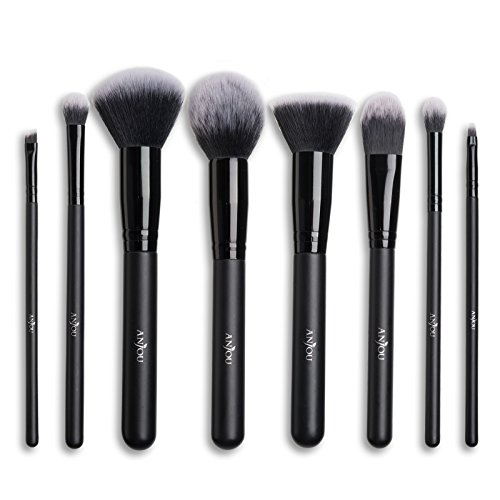 Make Up Pinsel Set Anjou 8pcs Professionelles Schminkpinsel Kosmetikpinsel Lidschatten...