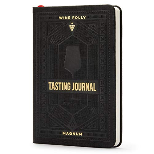 """Wine Journal by Wine Folly - Guided Wine Tasting Notes (5"""" x 7"""" B6 Notebook) - Features 4 Step Tasting Method, Wine Color Reference Card, and Page Marker - Black"""