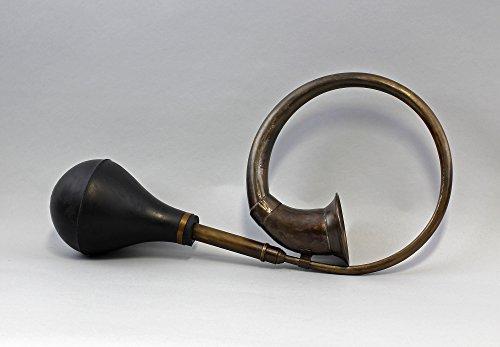Nostalgisches Oldtimer Horn / Hupe Messing brüniert