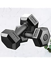 VOSAREA Mancuernas hexagonales de peso para brazos, pesas largas, mancuernas de goma, para el hogar, la oficina, el gimnasio
