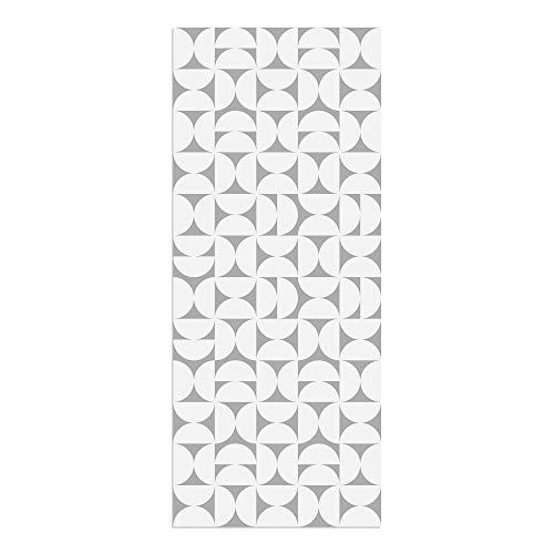 Alfombra Vinílica, Geometría, Gris, 120 x 50 cm, Varios Tamaños y Colores, PVC Estampado, ALV-080-GR