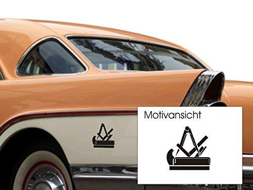 blattwerk-design Tischler, Schreiner, KFZ-Aufkleber, Autoaufkleber, Innungszeichen, Beruf, Handwerk, Innung (M070 Schwarz, 100 mm x 100 mm)