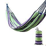 CZWYF Hamaca, al Aire Libre Ofertas Caribe Estilo al Aire Libre Doble 2 Persona algodón Ultraligero hamacas, for Acampar/Senderismo/Patio Trasero Swing / 74.8x59.1 Pulgadas (Color : B)