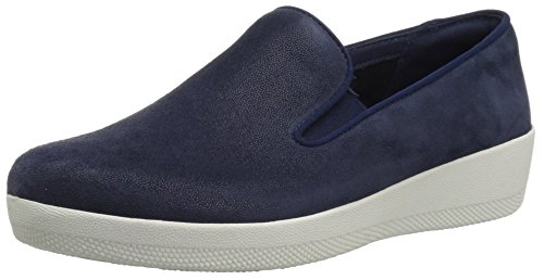 FitFlop Women's Superskate Loafer Flat, Midnight Navy, 8.5 M US