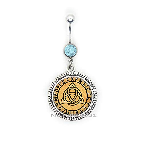 Belly Button Ring Rune Jewelry Occult Belly Ring Celtic Charm Magic Amulet,Celtic Gift, Celtic Jewelry -RG273