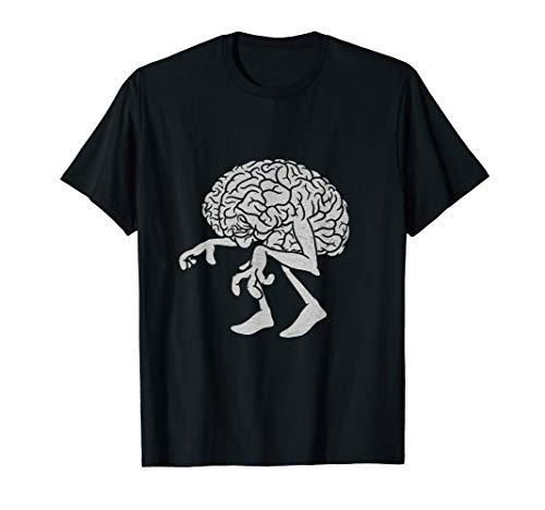 Braindead. Lustiges gehendes Zombiegehirn-T-Shirt. T-Shirt