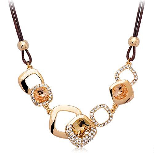 ZNZNN Collar Decorativo de la clavícula de Las señoras, el Regalo de cumpleaños del Collar del suéter de la Moda, Regalo del día de la Madre, Regalo del día de San Valentín Regalo de Collar de Moda