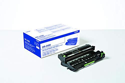 Brother DR3400 Tamburo Originale per Stampanti HLL5000D, HLL5100DN, HLL5200DW, HLL6300DW, DCPL5500DN, MFCL5700DN, MFCL5750DW, DCPL6600DW, MFCL6800DW, Capacità fino a 30000 Pagine, Non Contiene Toner