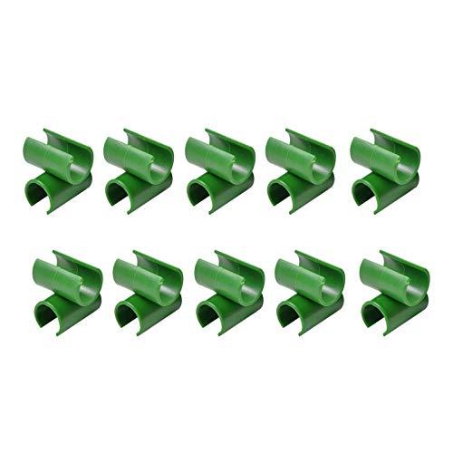 10/50/100PCS Jardín Huerto Planta Ajustable Conector De Plástico Verde Flor Ratán Hebilla De Plástico Conector De Planta Universal Estaca Clip para Huerto De Jardín Jaula De Tomate