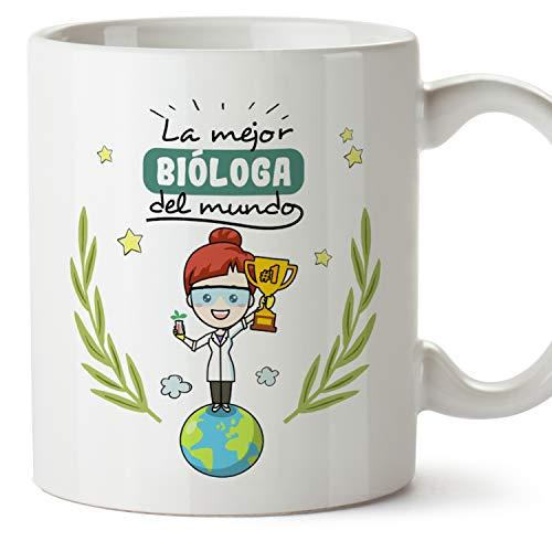 MUGFFINS Taza Bióloga (Mejor del Mundo) - Regalos Originales y Divertidos de Biología