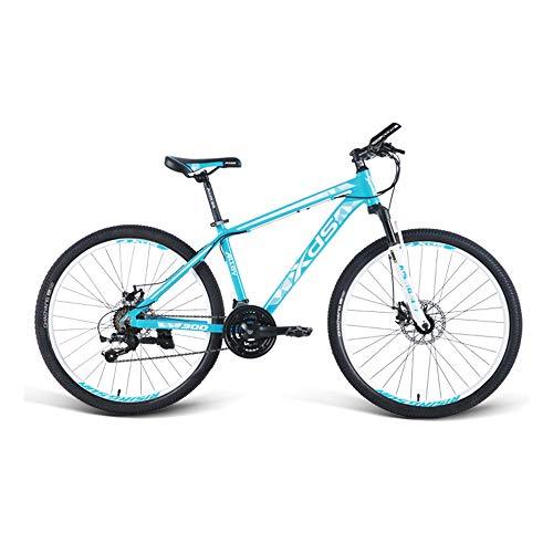 Bicicleta, bicicleta de montaña de 21 velocidades, bicicleta de choque, con marco de aleación de aluminio y ruedas de 26 pulgadas, para adultos y adolescentes, fácil de instalar, antideslizante