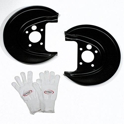 Autoparts-Online Set 60010329 2 x Spritzbleche/Ankerbleche/Deckbleche Links + rechts für hinten/für die Hinterachse