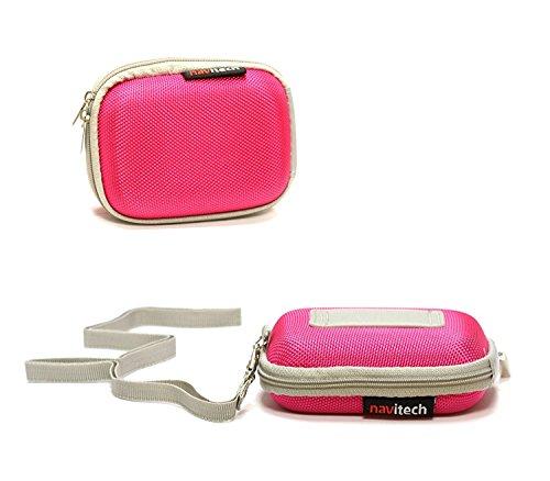 Navitech rosa Hartschützer Kopfhörer/Kopfhörer Case für Sennheiser MX 686G Sports