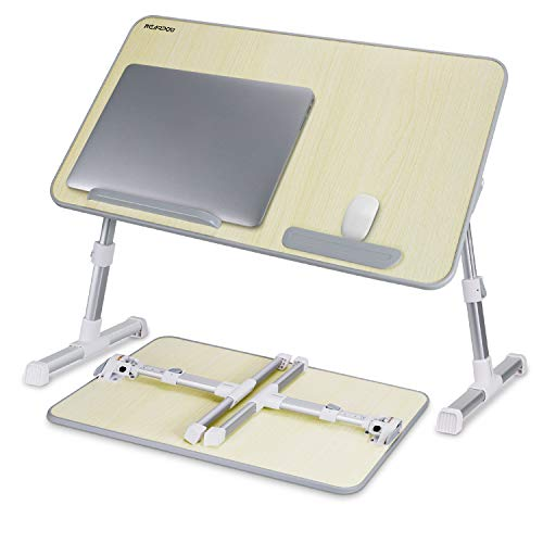 Laptop Bed Tray Table, Nearpow (Larger Size) Adjustable Laptop Bed Stand, Portable Standing Table with Foldable Legs, Foldable Lap Tablet Table for Sofa Couch Floor - Large Size