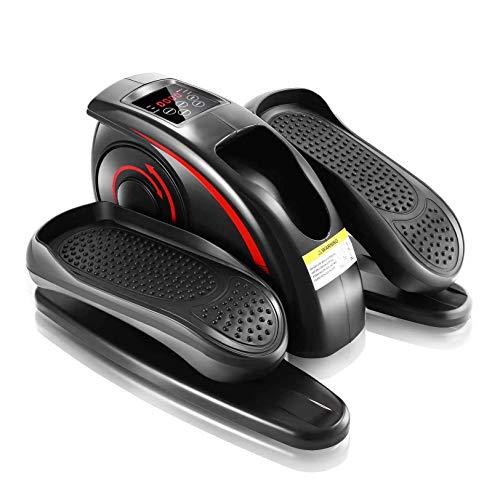 Rabbfay Interior Pedal Ejercitador Debajo del Escritorio Eléctrico Elíptico Máquina Entrenador con Construido en Mostrar Monitor Tranquilo Y Compacto por Ejercicio Superior y Más bajo Extremidades