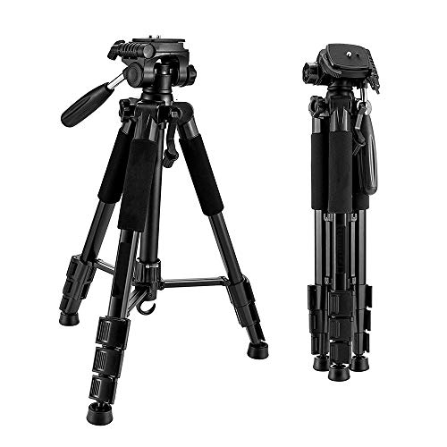 Aluminum Alloy Mobile Phone Tripod, 360° Flexible Knob, 47cm-140cm Working Height, Suitable for SLR, Mirrorless and Mobile Phones, Black.