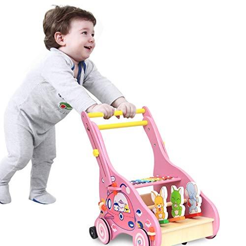Sale!! Enjocho Baby Stroller Wooden Walker Toy Anti-Rollover Learning Walking Infant Trolley Baby Wa...