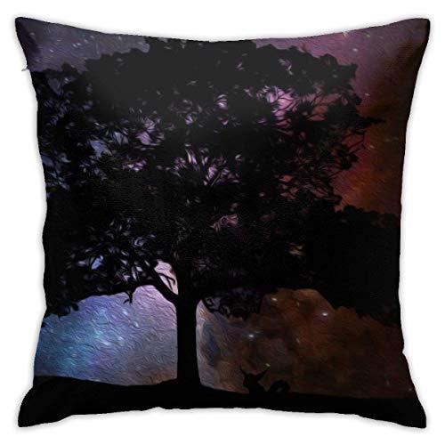Fundas de Almohada, Fundas para Cojines de Lino Funda de Almohada Estrella de luz de árbol Funda Cojin Decorativa de Casa para sofá Dormitorio Coche,45x45CM