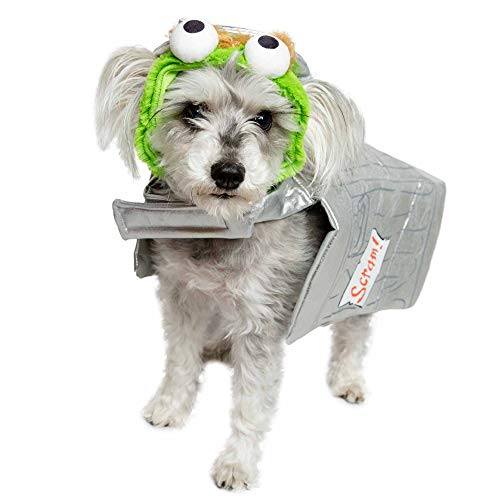 Pet Krewe Oscar The Grouch Costume - Oscar The Grouch Dog Costume - Fits Small, Medium, Large and Extra Large Pets - Perfect for Halloween, Parties, Photoshoots, Gifts for Cat and Dog Lovers (S)