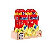 Somat Oro Gel Lavavajillas Limón – Pack de 4, Total: 200 lavados (3.6 L)