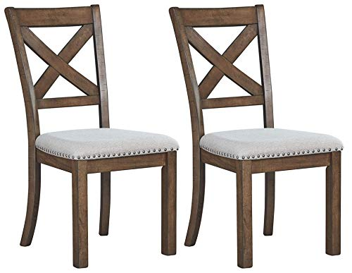 Signature Design by Ashley Moriville Dining Room Chair, Beige