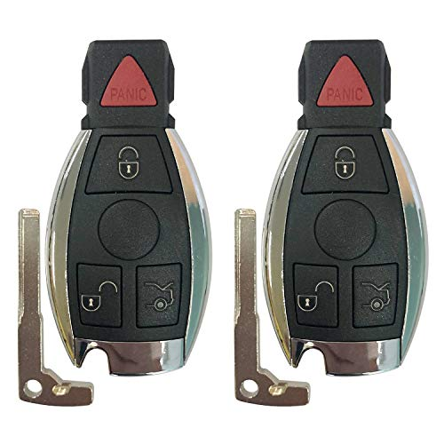 Replacement for Mercedes-Benz IYZ3312 Keyless Entry Remote Car Key Fob Control,FCCID:IYZ3312,by AUTOKEYMAX (PAIR)