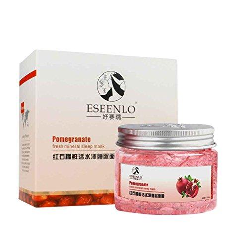 LUFA Mujeres Niñas granada roja máscara para dormir Cuidado Facial Líquido crema blanqueadora Arrugas Envejecimiento de la piel Care Lotion