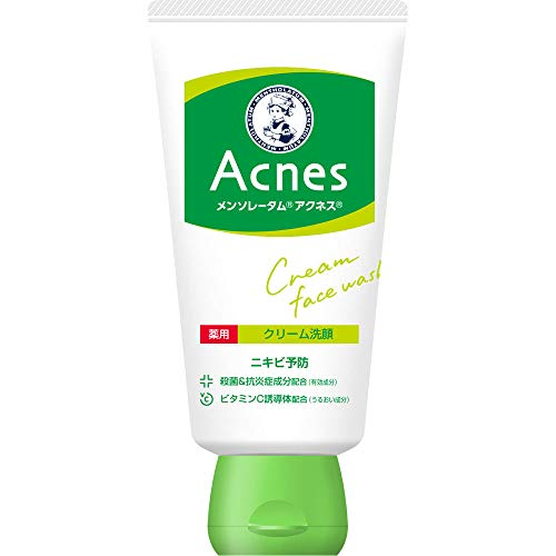Rohto Acnes Facial Washing Cream 130g (japan import)