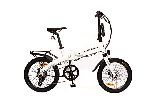 Littium Bicicleta eléctrica Ibiza Dogma 03 10.4A Blanca, Adultos Unisex, Plegable