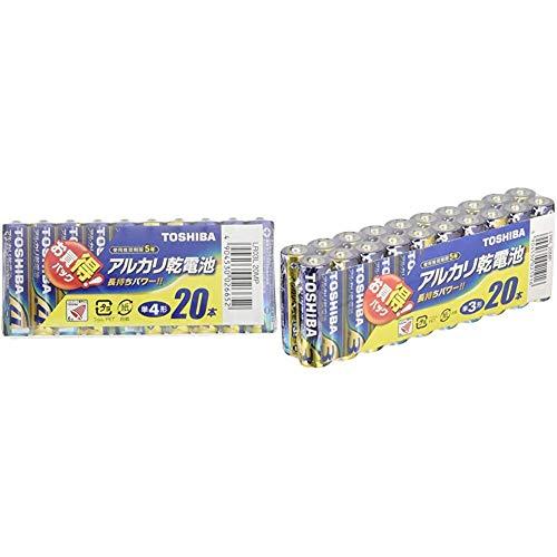 【セット買い】東芝 アルカリ乾電池 単4形1パック20本入り LR03L 20MP & アルカリ乾電池 単3形1パック20本入 LR6L 20MP