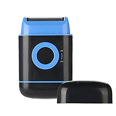 Electric Shaver, Ultra-thin Foil Pop-up Beard Trimmer AA Battery Power Shaving Shaver for Men(Blue)
