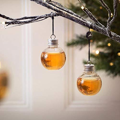 Sansee 6 Pack Schnaps gefüllt Weihnachtsbaum Ornamente Wasserflasche Milch Saft Birnen Tasse (A)