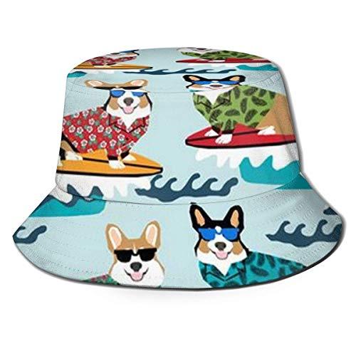 Perros Divertidos con Gafas de Sol Sombrero de Pescador Unisex, Tela Absorbente de Humedad, protección Solar UV
