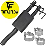 TOTALFLOW 415633 Black 2-Chamber Muffler 09-18 1500 Direct Fit Exhaust 2009-2018 Dodge Ram 1500-409 Stainless Steel (Two