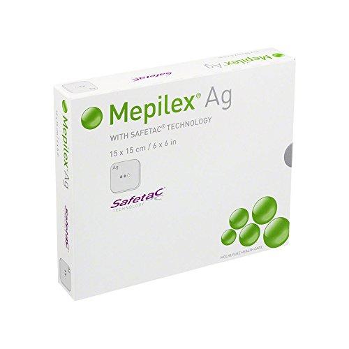 Mepilex AG Pflaster, 15 x 15 cm, 5 Stück