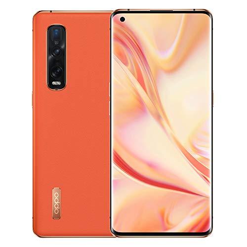 OPPO Find X2 Pro (5G) CPH2025 Single-SIM 512GB + 12GB RAM Factory Unlocked Smartphone - International Version : Orange (Leather)
