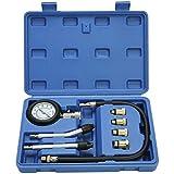 Cozywind Comprobador la Compresión Detector el Cilindro para Motores, Herramientas Profesionales de Multifunción para Motores de Gasolina para Coche, Motocicleta, etc. Kit de 8 Piezas (Blue) (Azul)