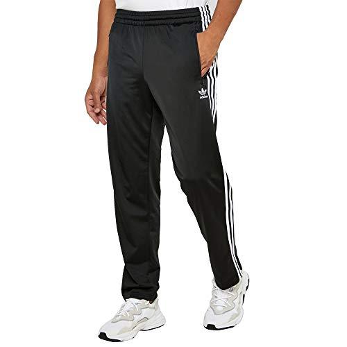 adidas Herren Essentials 3-Streifen Regular Tricot Pants, Herren, Hose, Essentials 3-Stripes Open Hem Tricot Pant, schwarz/weiß, Small