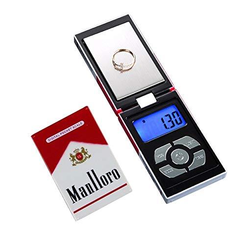 Digitale Taschenwaage, 200 g / 0,01 g Tragbare, hochpräzise Schmuckwaage Elektronische Digitalwaage Gramm Mini-Waage Tragbares LCD-Display für Schmuck, Drogen, Kaffee
