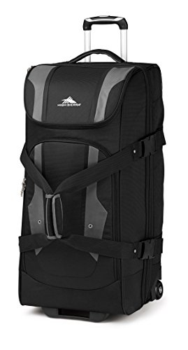 High Sierra Access Wheeled Duffel Bag, Black/Charcoal, 26-Inch