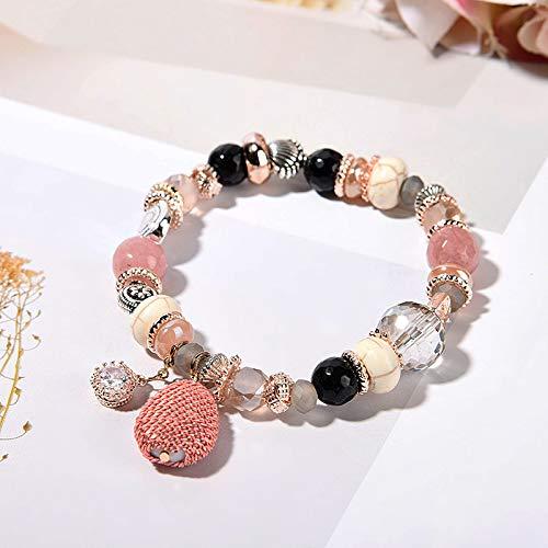 Böhmische Muschelstück Kristall Perlen Mode Damen Handgemachtes Armband 321-Pulver