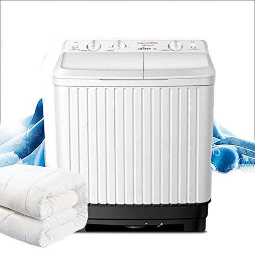 XIAOFEI 10kg Twin Tub Washine Machine Semi-Automatic, Top Loading Semi Automatic Twin Tub Lundry Washing Machine
