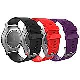 MoKo Correa Compatible con Garmin Vivoactive 3/Galaxy Watch 42mm/Galaxy Watch Active/Active 2/Gear S2 Classic/Ticwatch E/Huawei...